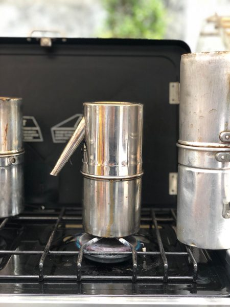 caffè italiano e cuccuma napoletana