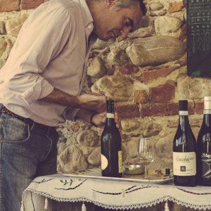 Weinverkostung in Govone